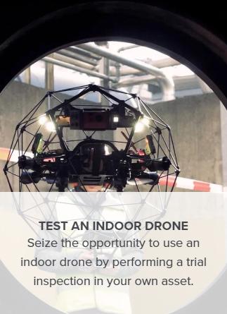 INDOOR DRONE / FLYABILITY Elios 2 Test